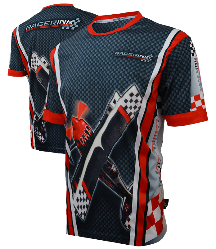 Sublimated shirts racer ink for Custom logo t shirts no minimum