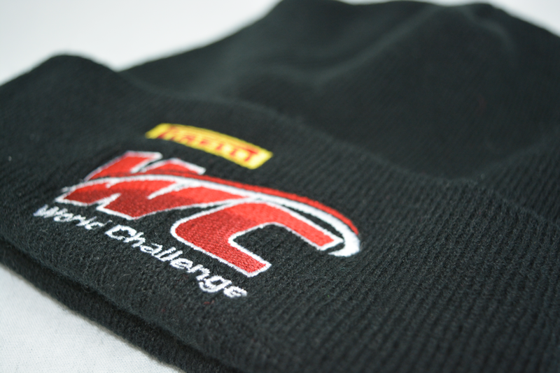 Embroidered beanie racing racer ink