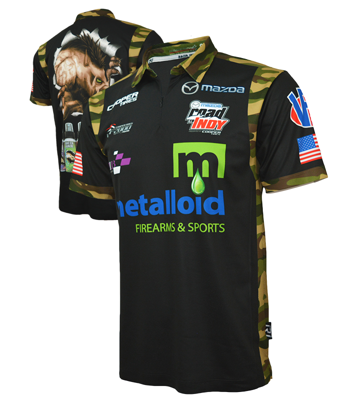 Sublimated crew polos racer ink for Custom race shirts no minimum