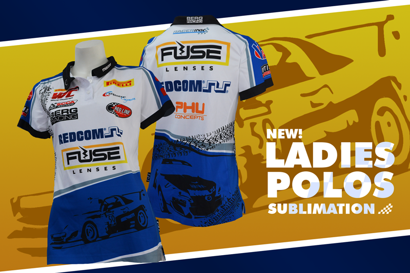 Ladies-Sublimation-Racing-Polos